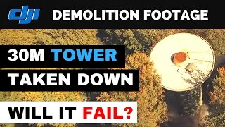 Demolition of old radio tower recorded by DJI Phantom 3 Drone. This is the last known footage from one of the Radar towers in...