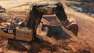 Video Cat Excavator 6040 Working And Cabin View MP3, 3GP, MP4, WEBM, AVI, FLV Agustus 2018