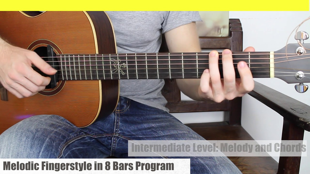 Three Levels of Guitar. Melody + Bass, Melody + Chords, Advanced Melody + Chords