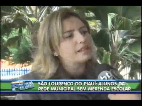 Em São Lourenço do Piauí alunos da rede municipal estão sem merenda