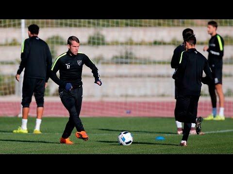 Duda y Amrabat vuelven a entrenar con el Málaga tras un día de ausencia