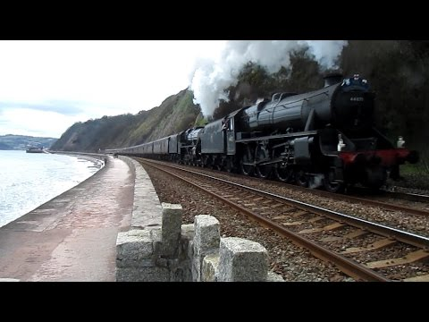 44871 & 45407 at Teignmouth with The Great Britain at Tei...