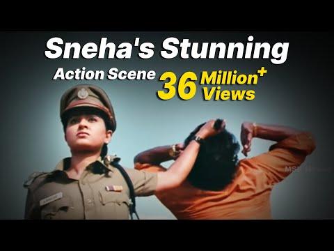 Video Sneha's Stunning Action Scene -