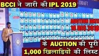 IPL 2019 AUCTION LATEST UPDATES | ALL AUCTION REPORTS ON IPL 2019 | CRICKET VIDEOS AND CRICKET NEWS