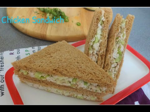 Easy & Yummy Chicken Sandwich Recipe By Kumkum's Cooking Space