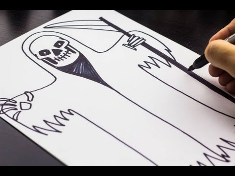 How To Draw Death, Just In Time For Halloween!