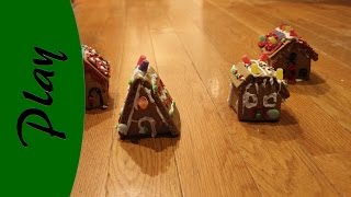Cleaning up the Christmas directions - we needed to do something about the gingerbread houses.  This is our Monty Python inspired destruction.