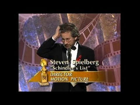 Steven Spielberg Wins Best Director Motion Picture - Golden Globes 1994