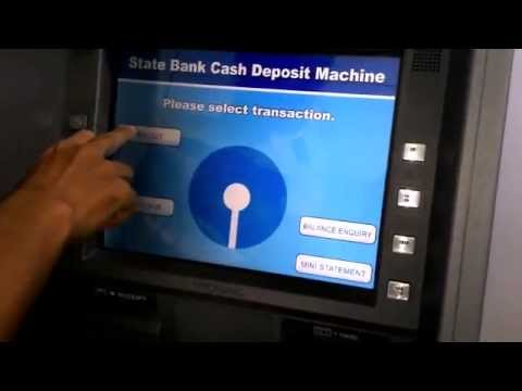 How To Deposit Cash Easily In Sbi Cash Deposit Machine