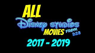 This video is talking about the image from d23 or Disney Studios lays out every movie they are doing from 2017 through 2019 that's all movies from Marvel Studios Star Wars films and animated and live-action adaptations of animated films.Let us know what you think about all the new movies that are coming from Disney and let us know which one is your favorite make sure you guys like this video share it with your friends and subscribe to nerdsmerized for all the latest and greatest in the world of nerds. The image in this video belongs to Disney All rights reserved belong to Disney Studios.