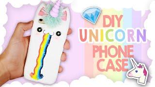 DIY   Kawaii Unicorn Phone Case Tutorial - Cover Unicorno Kawaii