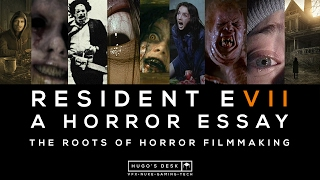 This is a short Essay about the multiple Horror film references of Resident Evil 7. Enjoy.Here is a list of the films and games I reference in the video:Amnesia: The Dark Descent - Frictional Games (2010)The Texas Chain Saw Massacre - Tobe Hooper (1974)The Evil Dead - Sam Raimi (1981)Se7en - David Fincher (1995)Ring - Hideo Nakata (1998)Videodrome - David Cronenberg (1983)The Blair Witch Project - Daniel Myrick and Eduardo Sánchez (1999)The Brood - David Cronenberg (1979)The Thing - John Carpenter (1982)Possession - Andrzej Żuławski (1981)Aliens - James Cameron (1986)P.T playable teaser - Konami (2014)Resident Evil 7: Biohazard - Capcom (2017)Silent Hill - Konami (1999)Resident Evil - Capcom (1996)Silent Hill 2 - Konami (2001)Resident Evil 4 - Capcom (2005)Resident Evil – Code: Veronica - Capcom (2000)Fatal Frame / Project Zero -Tecmo (2001)Clock Tower - Human Entertainment (1996)Resident Evil 6 - Capcom (2012)Resident Evil: Revelations - capcom (2012)Outlast - Red Barrels (2013)Alien: Isolation - Sega (2014)Slender: The Arrival - Blue Isle Studios (2013)Check my latest work:  http://hugo-guerra.com  Check out my other websites:  TWITTER: https://twitter.com/HugoCGuerra INSTAGRAM: https://www.instagram.com/hugocguerra/ FACEBOOK: https://www.facebook.com/hugo.c.guerra/ LINKEDIN: https://www.linkedin.com/in/hugoguerra PATREON: https://www.patreon.com/HugoCGuerraMusic:Departure - Ghostpocalypse by Kevin MacLeod is licensed under a Creative Commons Attribution licence (https://creativecommons.org/licenses/by/4.0/)Source: http://incompetech.com/music/royalty-free/index.html?isrc=USUAN1100668Artist: http://incompetech.com/Deep Space by Audionautix is licensed under a Creative Commons Attribution licence (https://creativecommons.org/licenses/by/4.0/)Artist: http://audionautix.com/Mind Scrape by Kevin MacLeod is licensed under a Creative Commons Attribution licence (https://creativecommons.org/licenses/by/4.0/)Source: http://incompetech.com/music/royalty-free/index.html?isr