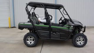 9. SALE $14,499:  2016 Kawasaki Teryx4 LE Metallic Flat Raw Graystone Overview and review