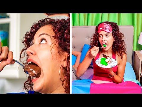 GDY JEDZENIE TO WASZA MIŁOŚĆ || Przemycanie jedzenia na lekcje i inne sztuczki od 123 GO! GOLD