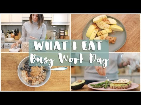 Nutrition - WHAT I EAT IN A DAY  Real Life Busy Work Day