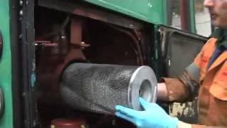 FilterSavvy - Luber-finer - Heavy Duty Air Filter on a Cummins LT10wmv.wmv