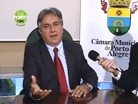 Entrevista com o presidente da Cmara Municipal de Porto Alegre, vereador Nelcir Tessaro (PTB) - Bloco 1