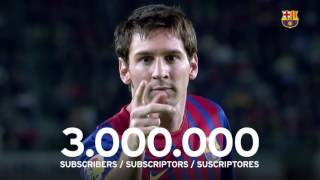 FC Barcelona reaches 3 million subscribers on YouTube