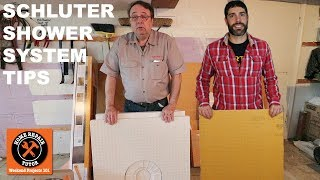 Schluter Shower Systems are an option for any bathroom. We share when to choose a Schluter pan versus a mud pan and how to use KERDI-BOARD.