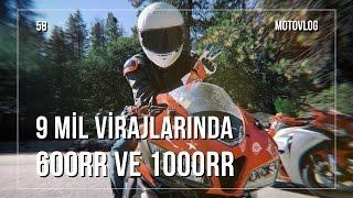Tektabanca, yavru kurt Honda CBR600RR'ın üzerinde, geniş virajlarıyla nam salmış 9 Mil isimli yolda 600'lük motosikletin tadını...