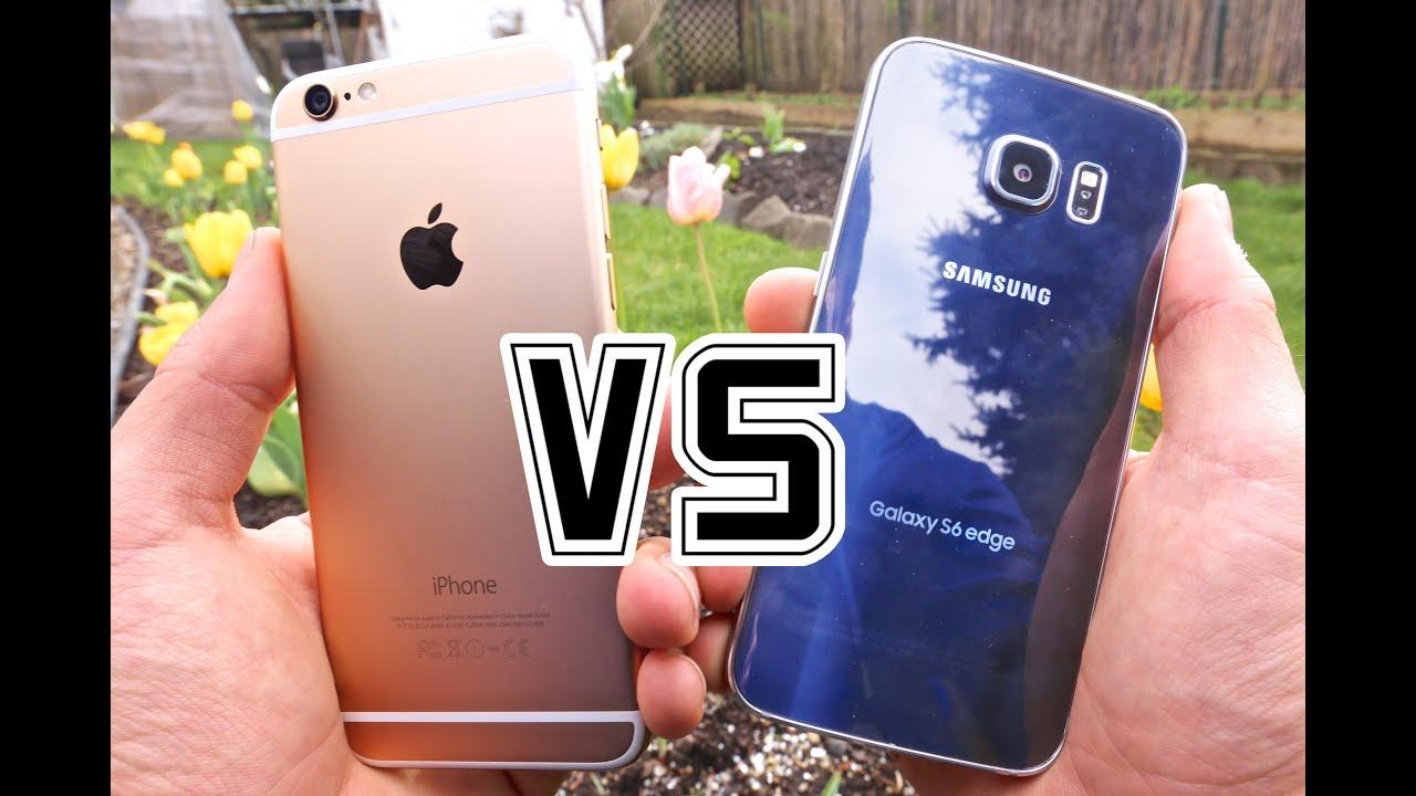 به ڤیدیۆ:: جیاوازی له نیوان ئایفۆن6 و گالاكسی 6 Samsung Galaxy S6 Edge VS iPhone 6