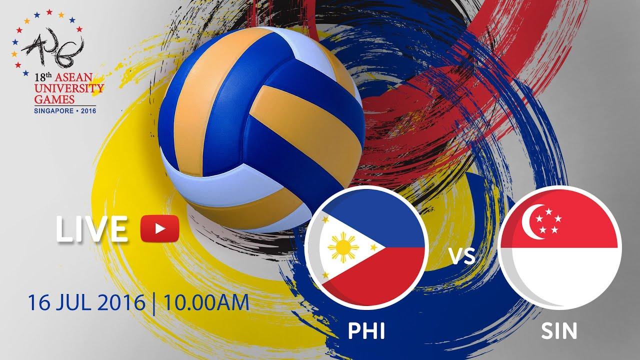 Volleyball Men's: Bronze medal PHI vs SIN | 18th ASEAN University Games Singapore 2016
