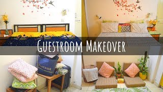 Guestroom Makeover On a Budget | Indian room Tour in Hindi | Scarlet Strokes