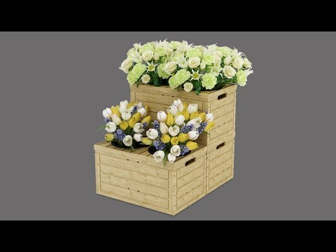 Wood Look Flower Stand