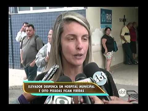 Elevador despenca e deixa feridos no Hospital Municipal Pedro II