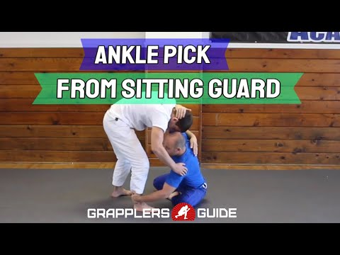 sitting - http://www.GrapplersGuide.com - **Get A Membership For Life** - In this video Jason Scully demonstrates how to do the ankle pick from the sitting guard when your opponent is standing in front...