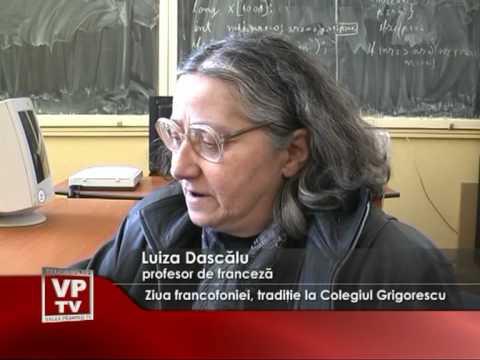 Ziua francofoniei, tradiţie la Colegiul Grigorescu