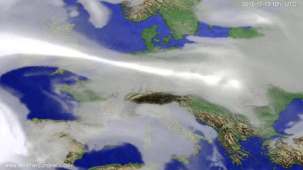Cloud forecast Europe 2015-12-11
