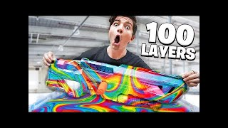 We Hydro Dipped a Nerf Blaster 100 Times! (100 Layers Challenge)