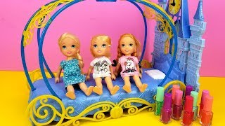 Video Sleepover at Cinderella ! Elsa & Anna toddlers - LOL surprise dolls - moj moj - coloring MP3, 3GP, MP4, WEBM, AVI, FLV Juni 2019