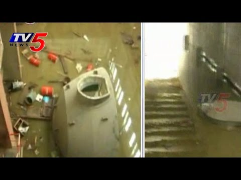 Lower Jurala Hydro Electric Project Damaged by  Flood Water : TV5 News