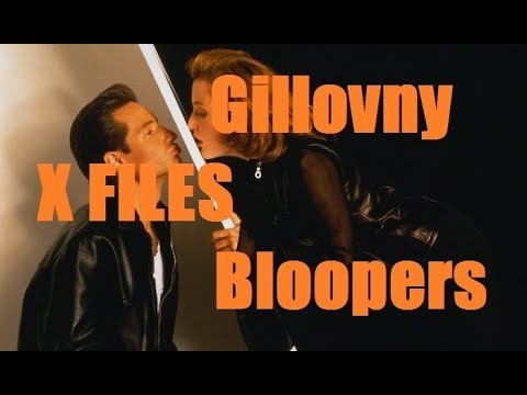 Gillovny bloopers (The X Files David Duchovny Gillian Anderson) stars of Californication Fall