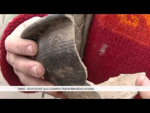 TV Brno 1: 5.1.2017 Ve Vojtově ulici odkryli tábor římského vojska.