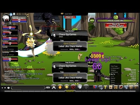 AQW Fastest way to get to level 65! 20,000k XP PER KILL 2014