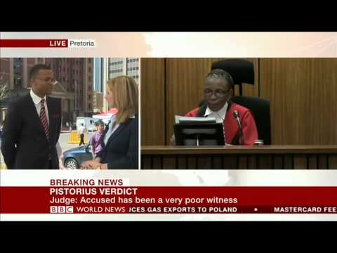 Oscar Pistorius trial verdict: BBC News live coverage from Pretoria
