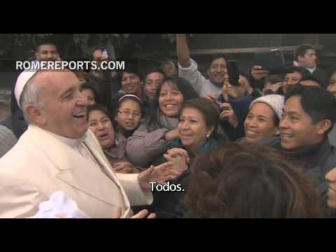 Conmovedora visita sorpresa del Papa