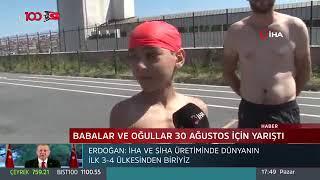 Baba-Oğul Yüzme Etkinliği - Tv 100