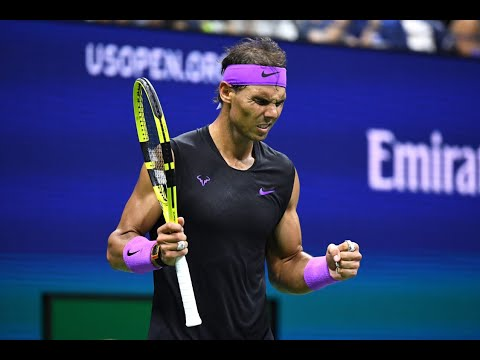 Rafael Nadal Match Point and Celebration Winning the US Open 2019 Championship
