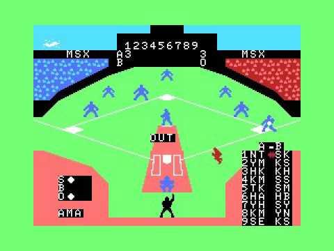 MSX Baseball (1984, MSX, Matsushita Electric Industrial)