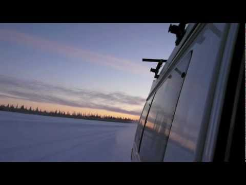 Driving on the ice road to Tuktoyaktuk!