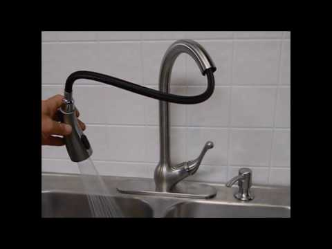 kohler barossa with response touchless technology pulldown sprayer kitchen faucet in vibrant the home depot - Kohler Kitchen Faucet