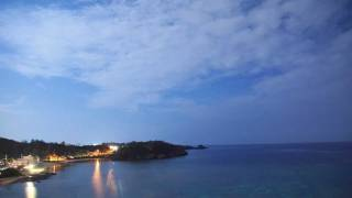 Timelapse Okinawa Moonlit night