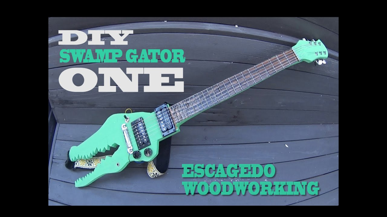 DIY /  Electric Alligator Guitar / Build /  for Hobos only