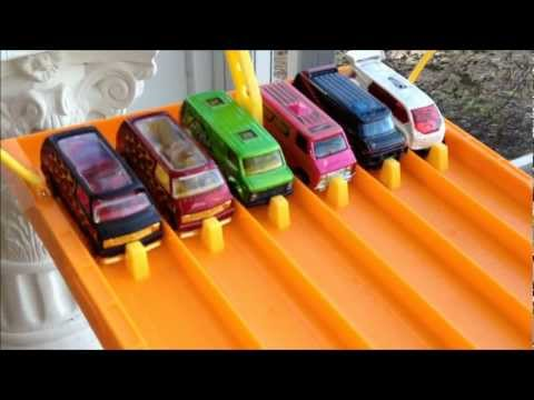 HOTWHEELS 6 LANE DRAGRACE # 6... THE VANS