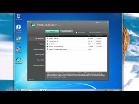 IObit Uninstaller tutorial