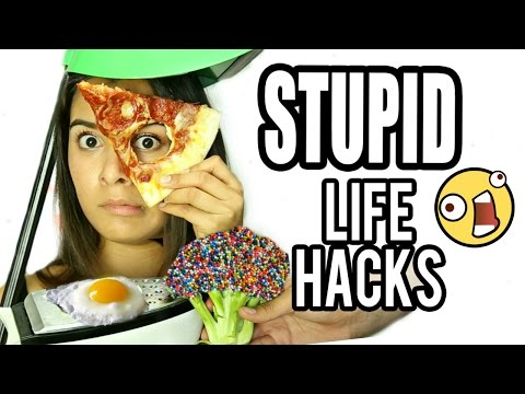 10 STUPID Life Hacks for Everyday Problems That Work! NataliesOutlet (видео)